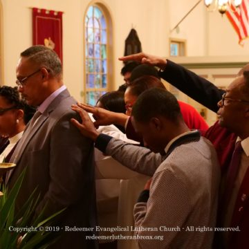 Redeemer Rite of Election Laying on of Hands 2019